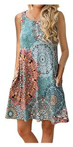 Luranee Womenamp;amp;#39;s Floral Sleeveless Tank Dresses