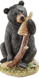 Black Honey the Curious Bear Cub Statue