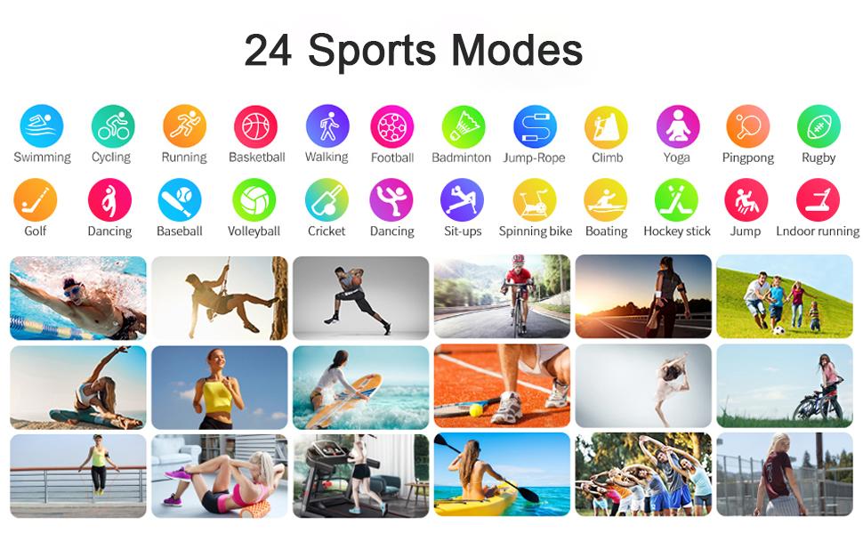 24 sports modes