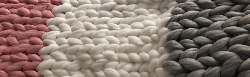 chunky knit blanket home decor throw