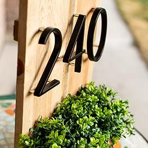 metal house number