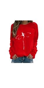 Dragonfly Print Sweatshirts Tops