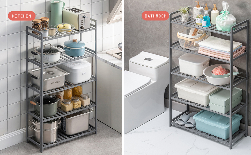 bamboo kitchen orgnizer bathroom towel rack