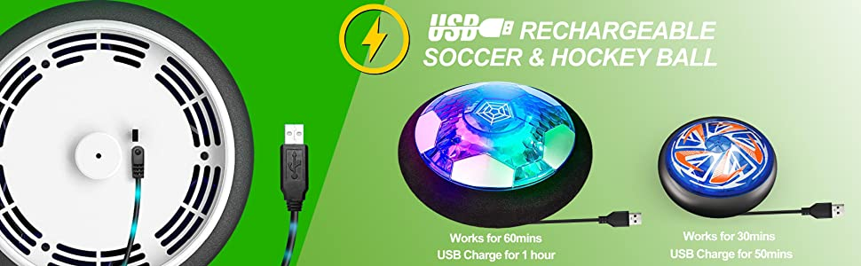 Hover soccer hockey toy set