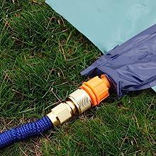 slip and slide - garden hose