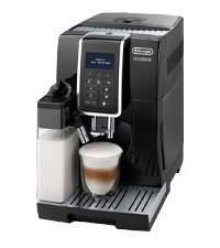 アドバンスモデル デロンギ コンパクト全自動コーヒーメーカー ディナミカ ミルクタンク付 ブラック