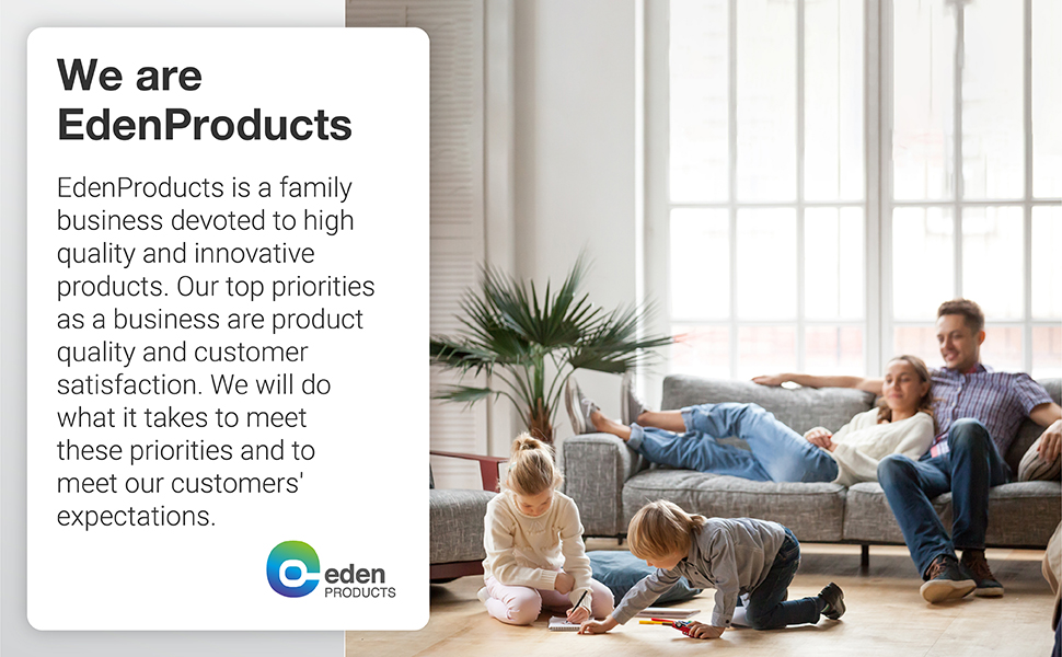 EdenProducts is a family business devoted to high quality and innovative products.