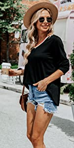 baggy style tunic tops for women