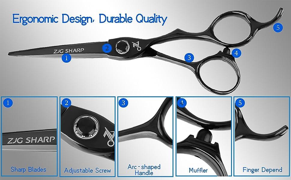 details of professional haircut scissors