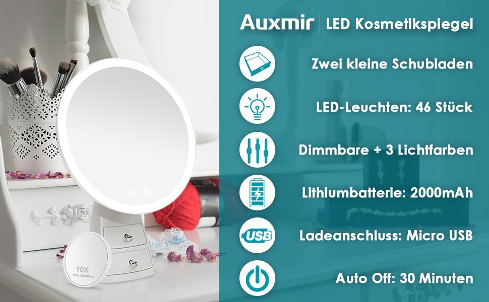 Auxmir LED Kosmetikspiegel