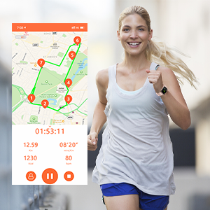 13 sports modes with GPS