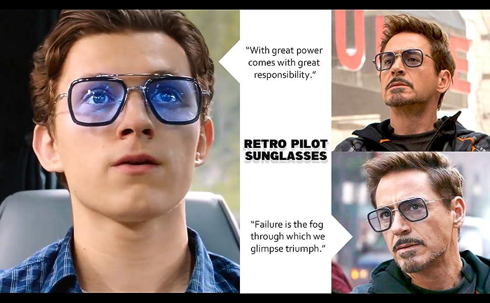 Gafas de sol Tony retro de los 80