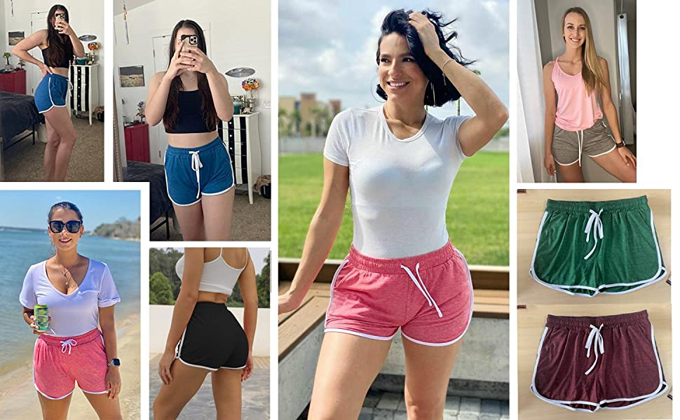 womens shorts for summer, dolphin shorts, athletic shorts for women, lounge shorts for women