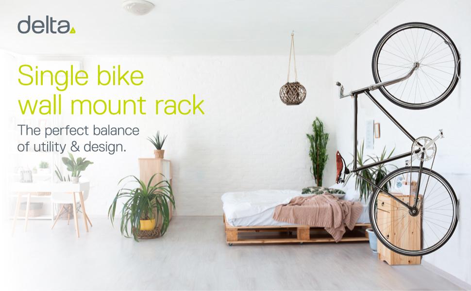 singe bike wall mount rack utility design