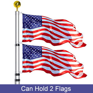 can hold 2 flags