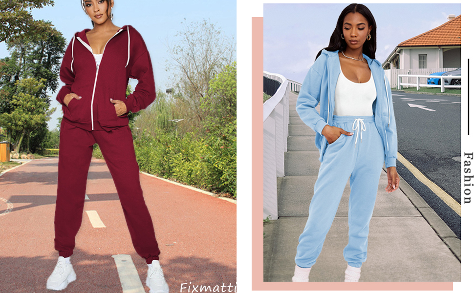 zipper tracksuit for women 2 pieces outfits