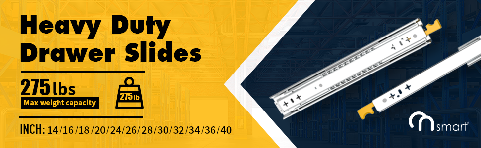 Heavy Duty Drawer Slides with Lock