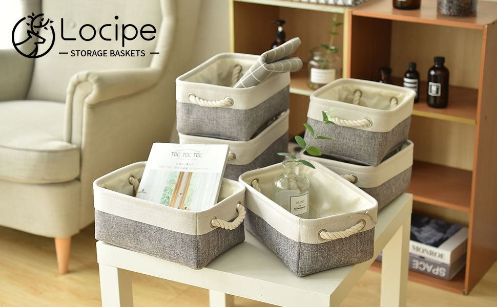 Open Small Fabric Baskets