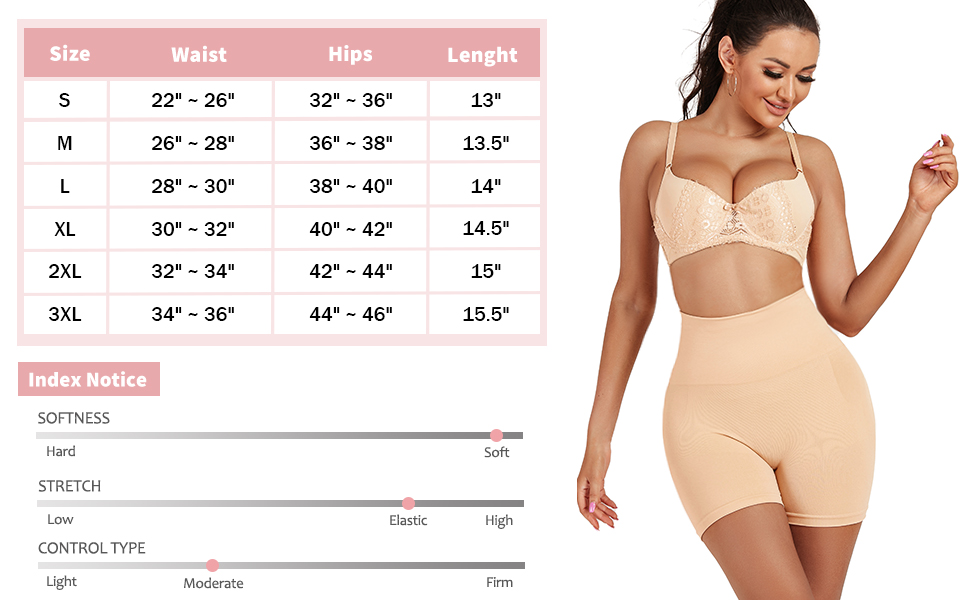 Seamless Shapewear Tummy Control Shorts for Women High Waist Body Shaper Underwear Slip Shorts