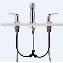 8 inch spread faucet chrome