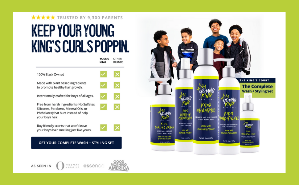 Young King Hair Care Product Benefits