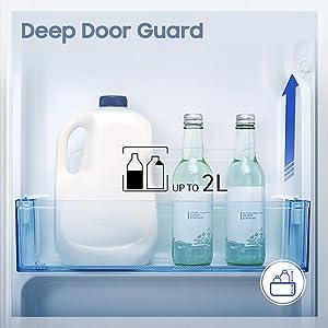 A Deep Door Guard can safely store larger bottles