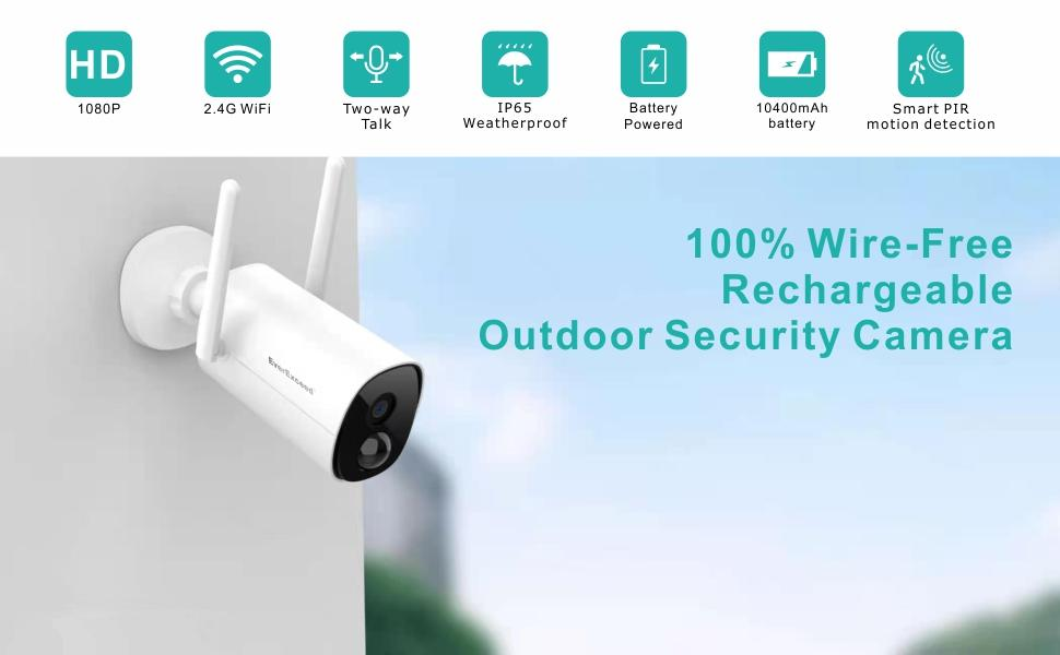 battery powered security cameras for home security