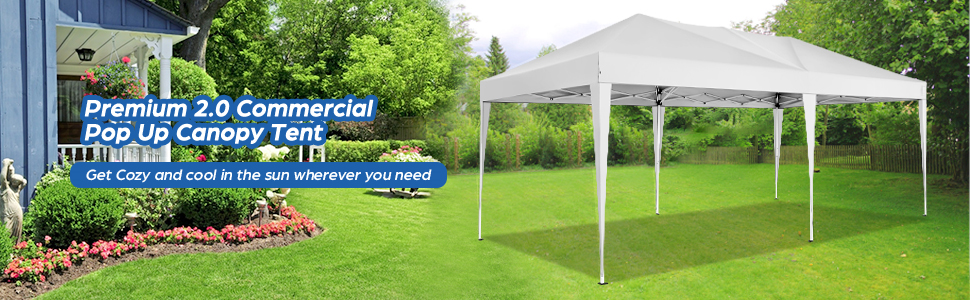 premium 2.0 commercial pop up canopy tent for garden