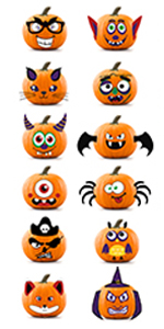 Halloween Pumpkin Decorating Stickers