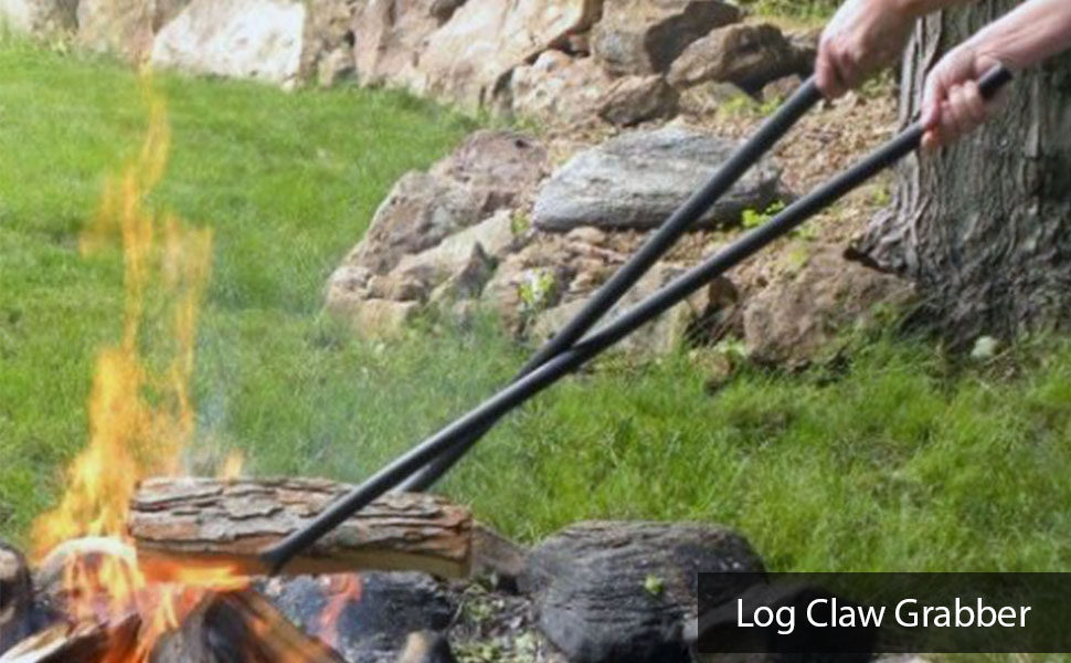40 Inch Log Claw Grabber Move Fire Wood Easily amp; Safely in Your Fire Pit