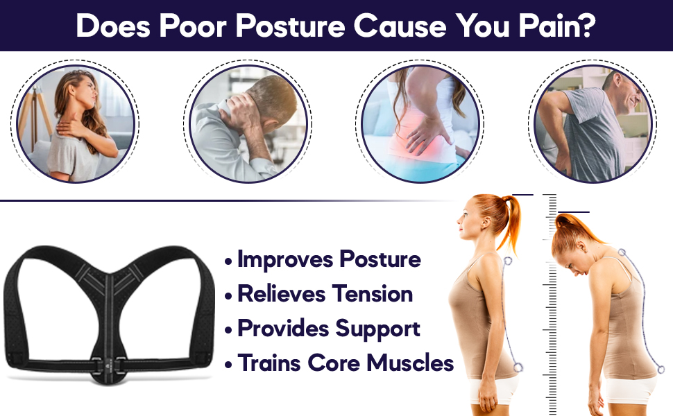 AMMICA Back Straightener Perfect Posture Corrector men Posture Corrector women Back Straightener