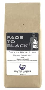 Fade to Black Ground Coffee extra Dark Roast low acid 16 oz french non gmo direct trade river moon