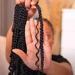 Goddess Box Braids Crochet Hair