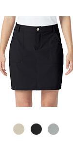 Naviskin Women's Outdoor Skort Golf Skorts UPF 50+ Hiking Skirts Active Athletic Casual Skirts