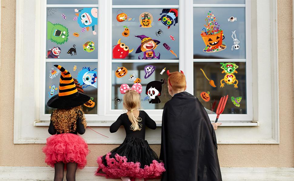 Halloween window stickers for kids