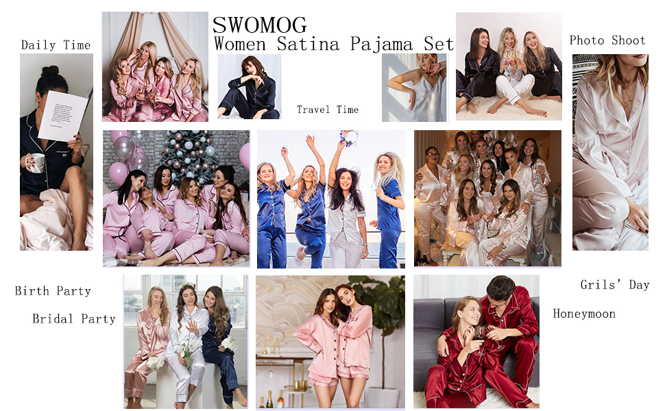 Women 4 pcs pajama set is a good choice for leisure and entertainment or festival