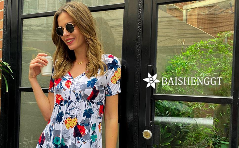floral tunic tops for women