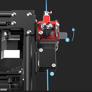 Dual Gears Metal extrusion mechanism