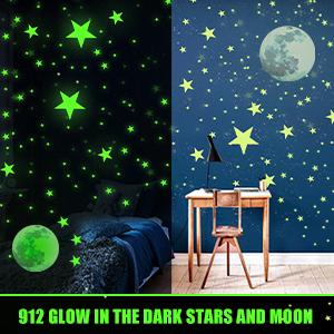 Pudish Glow in The Dark Stars Stickers