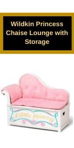 Wildkin Princess Chaise Lounge with Storage