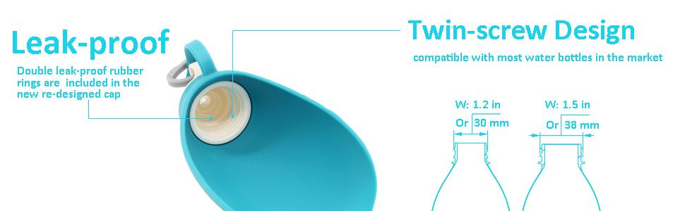 Compatible with most water bottles in the market, the bottle is changeable.