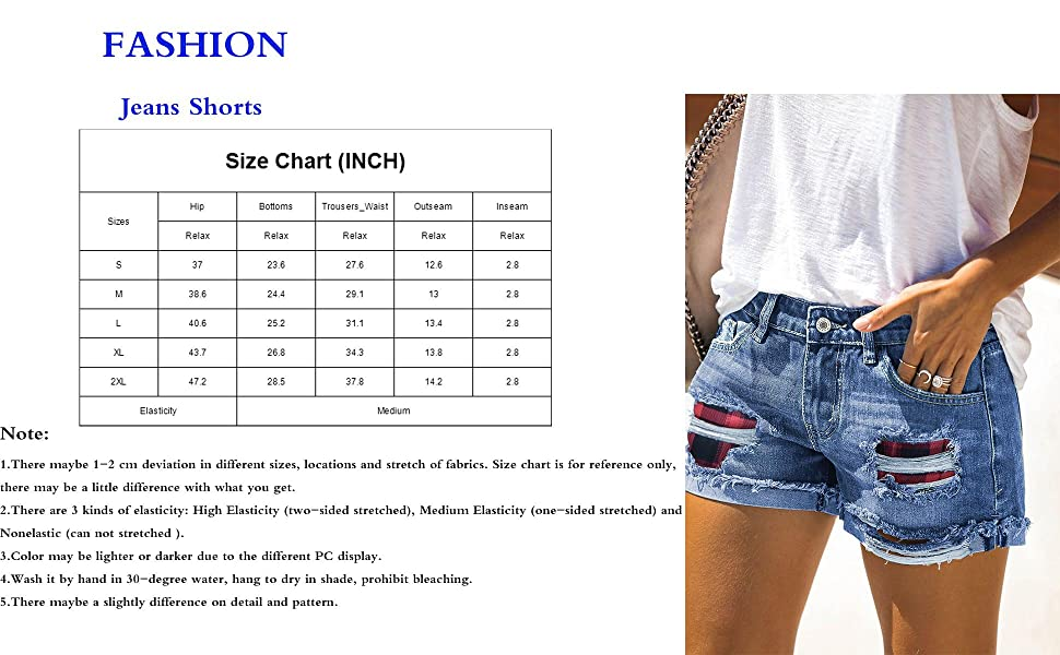 NEYOUQE Women Summer Side Slit Out Sexy Jeans Shorts Casual Denim Hot Pants