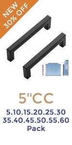 Black Cabinet Pulls 5 Inch Square Kitchen Cabinet Handles Modern Hardware for Kitchen Cabinets