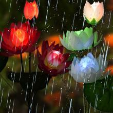 Solar Stakes Lights Lotus IP65 Waterproof