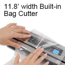 11.8'' width Built-in Bag Cutter