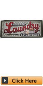 Non Slip Laundry Room Rug Runner Printed Waterproof Rubber Kitchen Floor Mat Doormat