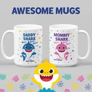 baby shark dad mug mom mug daddy coffee mug mommy coffee mug fathers day gift mothers day gift