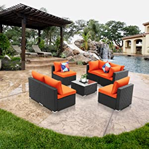 7 piece  Patio Sectional Furniture
