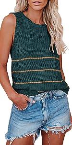 womens summer knit tank tops