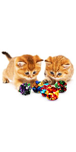SunGrow Mylar Balls for Cats, 16 Pcs Multicolor